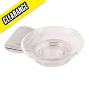 Swirl Ovali Bathroom Soap Dish Chrome Effect
